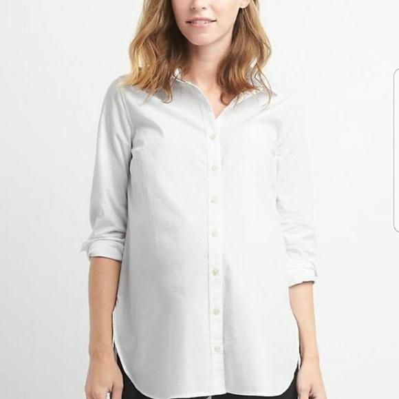 7555762af551b LOFT Tops | Maternity Button Down Shirt Med | Poshmark